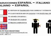 Traducciones español a italiano - italiano a español