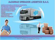 Transporte, mudanza, embalajes, carga, descarga y alquiler