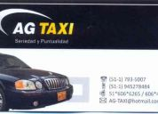 Servicio de taxi vip  /  vip taxi service