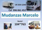 Mudanza marcelo cel 996061452   nex 104*763      of  2591244