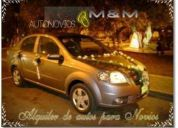 Alquiler de elegante auto en lima novias, matrimonio, quinceañeras. bodas de oro