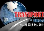** transportes isac ** cargas locales y nacionales 608*2913 / 992088522 / 2930586