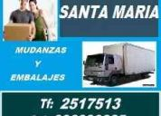 Mudanzas en lima - tarifas economicas - agencia santa maria - tf: 2517513 - 996990085