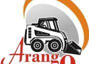 Servicio de alquiler de maquinarias con accesorios  para construcción y minería