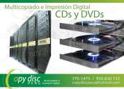 Multicopiado de cds dvds, impresion digital cds dvds, grabacion impresion digital cds dvd