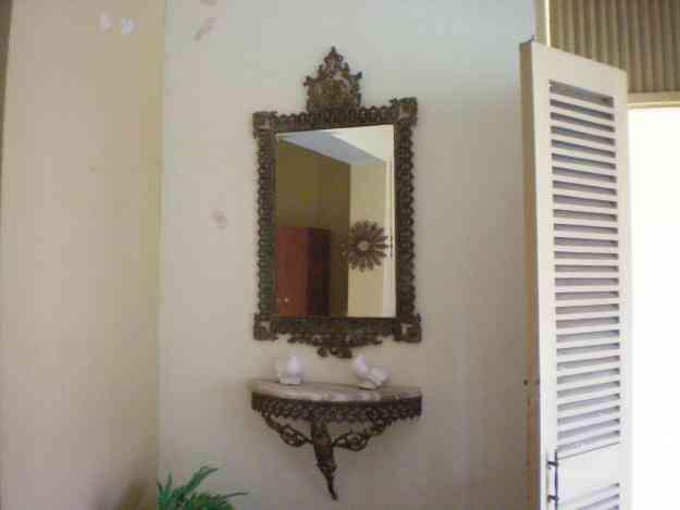 Vendo lindo espejo con marco de bronce y repisa con marmol - Repisas de marmol ...