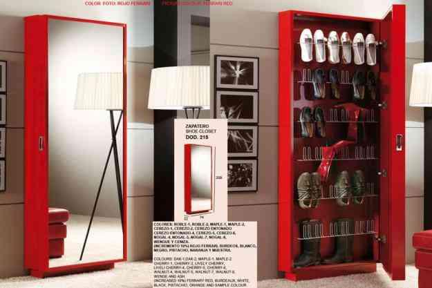Closet zapatero zapatera minimalista cajaruro for Zapateras para closet madera