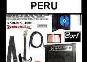 Guitarra + amplificador + distorsion + estuche+pack gratis!!