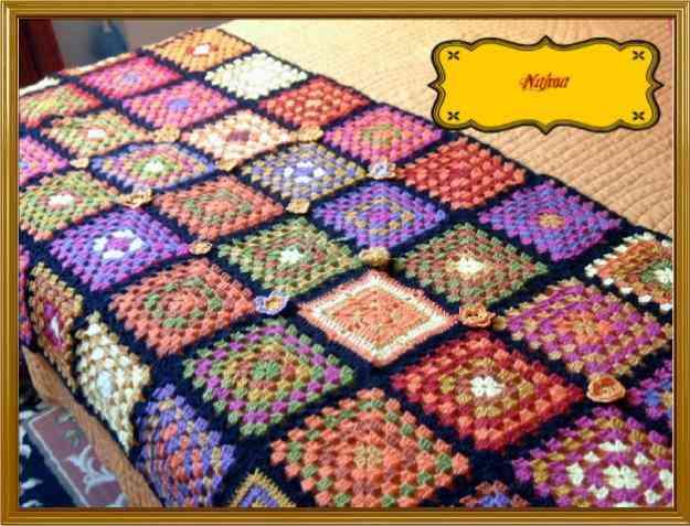 Colchas de colores crochet imagenes imagui - Aplicaciones de crochet para colchas ...