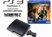 Play station 3 360 gb + infamous 2