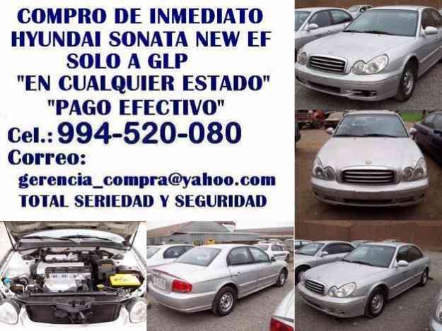 Hyundai sonata new ef,glp, compro de inmediato. S/. 0.00