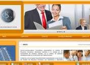 Correos corporativos y pagina web administrable a 55 dolares pago unico