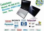 Soporte técnico integral de computadoras, hp, ibm, microtech, dell, lenovo, compatibles,et