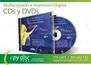 Servicio de grabacion y multicopiados de cd's - dvd's impresion