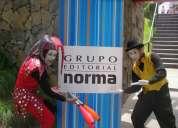 Activaciones btl,campañas publicitarias,artistas circenses,horas locas,show infantiles