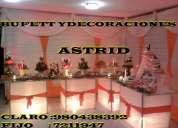 Organisacion integral de bodas,kinos,18 años,promociones,aniversarios,show infantiles etc.