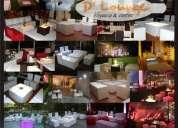 Alquiler de zonas lounge para 15 aÑos, mesas, barras y sillas de bar