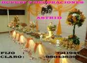 Elegantes buffets , finas tortas,decoraciones tematicas,equipo de sonidos,bodas,kinos,etc