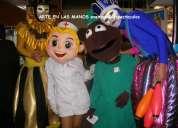 Horas locas tematicas,zanqueros,mimos,arlequines,magos,muñecones gigantes,muñecos cabezon