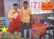 Happy day snacks !! los lunes en hola a todos por atv happy day snacks 99 824*0203 popcorn