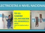 Servicio de instalaciones electricas residenciales y/o comerciales en lima /01-3288080