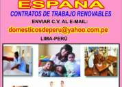 € 650 euros..trabajo en  espaÑa para empleadas domÉsticas peruanas...contratos rÁpidos