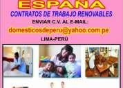 EspaÑa: trabajo para empledas domÉsticas peruanas en ..casas de familias pudientes