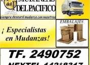 Mudanzas & embalajes para el hogar y oficinas tf 2490752  nextel 142*8317