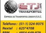 Servicio de transporte de carga pesada hacia el norte -chimbote-trujillo-chiclayo-piura