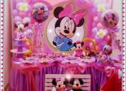 Decoraciones de minnie mouse para fiesta infantiles en lima