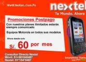 Nextel postpago personas y empresas