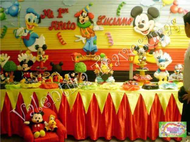 Decoraciones de mickey mouse decoraciones infantiles - Decoracion fiesta cumpleanos ...