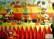 fiestas infantiles , decoraciones tematicas - de fresita , backyardigans ,mickey