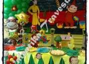 Jorge el curioso , decoraciones tematicas en lima para fiesta infantiles