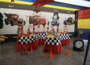 fiestas infantiles - decoracion de cars 2 , originales en lima al 402-4861