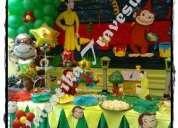 decoraciones de fiesta infantiles de jorge el curioso , valentika travesuras