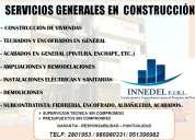 Servicios generales en  construcciÓn - construcciÓn de viviendas - techados y encofrados e