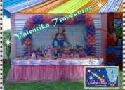 decoracion de la barbie para fiesta infantiles -  barbie mosquetera en lima
