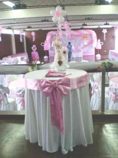 Decoracion con globos para primera comunion fiestas for Decoracion para bautizo