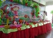 decoracion de fresita  - para fiestas infantiles en lima