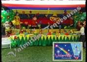 decoracion de jorge el curioso para fiesta infantiles en lima
