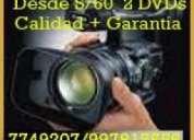 Zp filmaciones desde s/ 60  en dvd garantia y economia tf 997815556