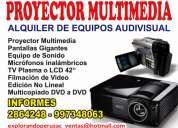 alquiler de proyector multimedia .............toda clase de eventos