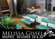 Servicio de diseño grafico y 3d modelacion melissa gissel