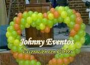 decoracion con globos de eventos sociales
