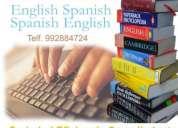 Traducciones inglés/español e inversas