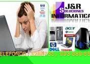 Servicio tecnico reparacion soporte de pcs laptops a domicilio