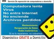 Reparacion de computadoras diagnostico a domicilio gratis