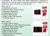 Indicador de  turno y caja / ticket maxsotec eirl peru