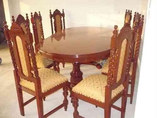 Vendo juego comedor modelo salom nico con 8 sillas for Vendo muebles jardin